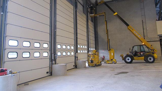 porte sectionnelle industrielle 224 nantes en loire atlantique 44 anjou ouverture